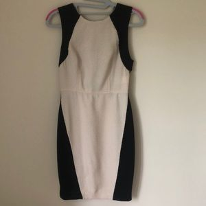 Rachel Roy black and pink lace dress